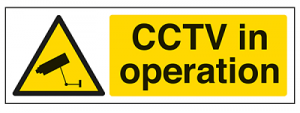 Display CCTV warning signs in practice