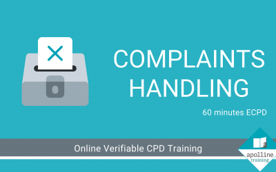Complaints Handling - Online, verifiable ECPD course for dental care professionals