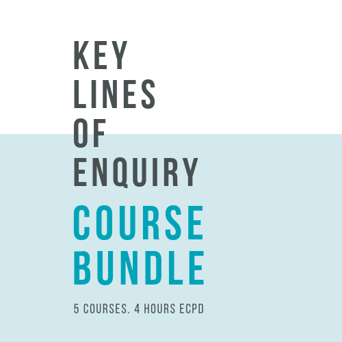 Online, verifiable CPD Course for dental professionals: COURSE BUNDLE - Key Lines of Enquiry