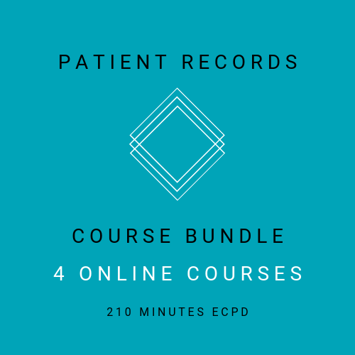 Patient Records - Course Bundle - 4 online, verifiable courses