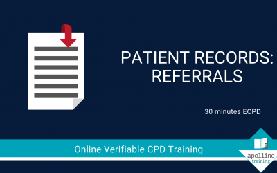 Patient Records - Referrals - Online, verifiable CPD for dental professionals