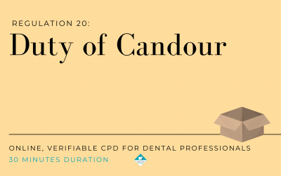Duty of Candour – Verifiable CPD for dental professionals