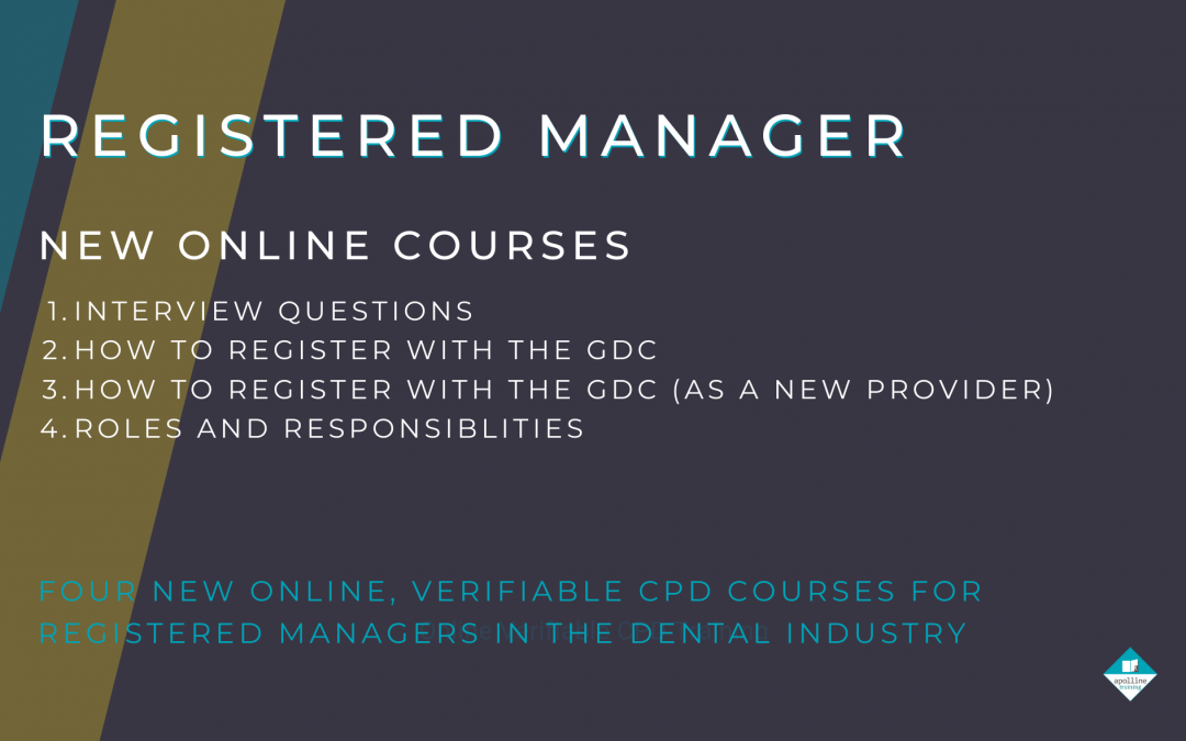 Four new courses for Registered Managers