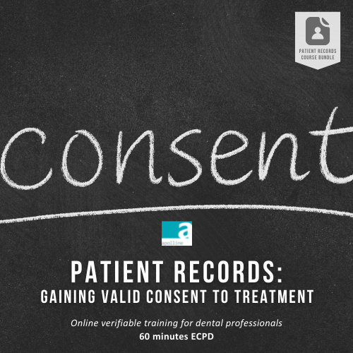 Patient Records - Gaining valid access to consent - dental course logo badge - Apolline Training