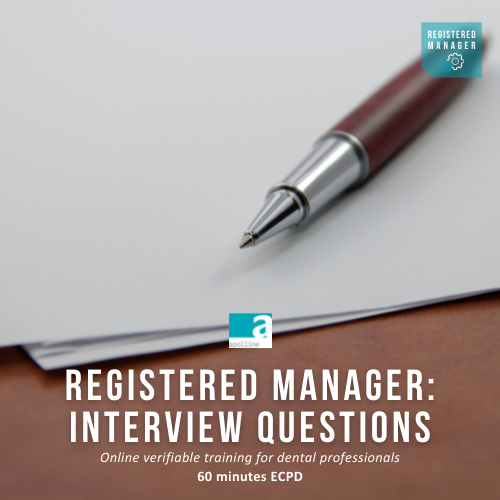 Registered Manager: Interview Questions dental course by Apolline Training logo